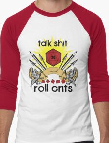 Talk Sh!t Men's Baseball ¾ T-Shirt