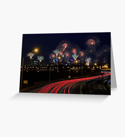 Australia Day Skyworks  Greeting Card