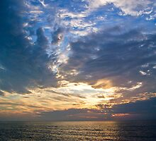 Cloudy Sunset in Naples by Caren