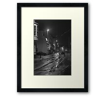 Dock Road before Dawn Framed Print