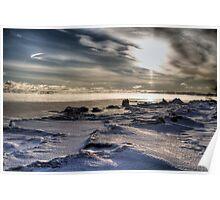 Frozen lands -Lake Superior Poster