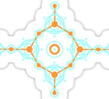 Geometric circle design Sticker