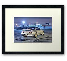 Silver Nissan R32 Skyline GTR #1 Framed Print