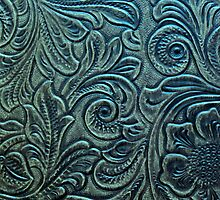 Embossed Tooled Leather Flowers & Scrollwork Design by rpwalriven