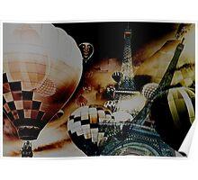 Hot Air Balloon Paris Poster