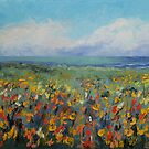 Wildflower Seascape by Michael Creese