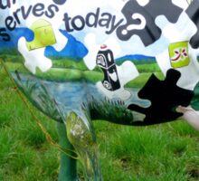 Jigsaw Puzzle Cow Sticker