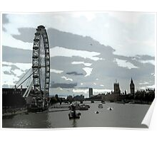 London Eye and Houses of Parliament Poster