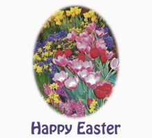 Happy Easter Spring Flowers Light T-Shirt by trevortrent