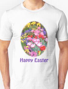 Happy Easter Spring Flowers Light T-Shirt T-Shirt