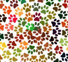 Pawprints spiral colorful Sticker