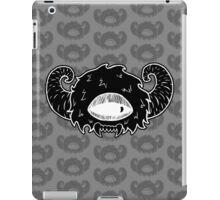 Black Monster Head iPad Case/Skin
