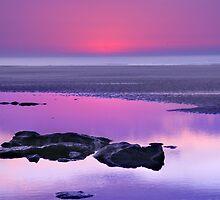 Sunset over France by warai-otoko