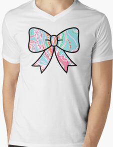 Lilly Pulitzer Inspired Bow - Jellies Be Jammin Mens V-Neck T-Shirt