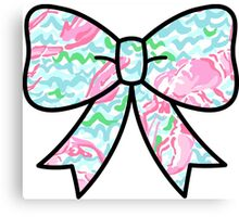 Lilly Pulitzer Inspired Bow Lobstah Roll Canvas Print