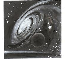 Cosmic Swirl and black dwarf by GeoSArt