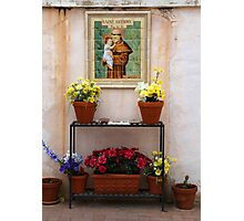 Saint Anthony San Xavier Courtyard Photographic Print