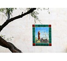 Saint Francis San Xavier Courtyard Photographic Print