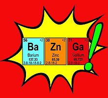 Bazinga! Humorous colorful chemistry geek design by Glimmersmith