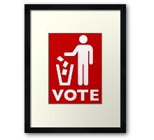 VOTE Framed Print