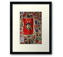 Little Red Mao - Badges, Yangshou, China Framed Print