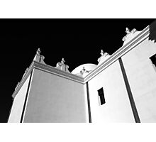 San Xavier Building Detail BW Photographic Print