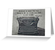 Writing According to Twain Greeting Card