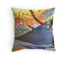 Bike in the bowl Throw Pillow
