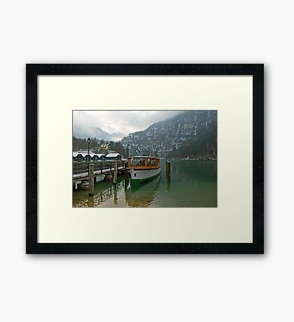 Old boat on Königsee Framed Print