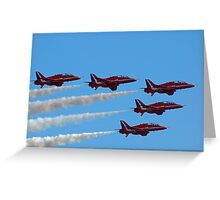 Red Arrows Fly Pass Greeting Card