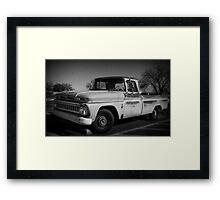 Truck BW Framed Print