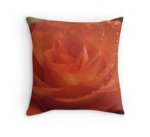 Ruby Lips Rose Throw Pillow