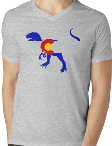 Colorado Allosaurus  Mens V-Neck T-Shirt