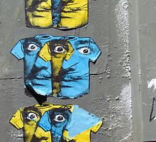 Faces on walls by Maureen Keogh