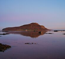 Holy Isle in the gloaming  by clara  caulfield