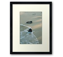 Things in the Sand Framed Print