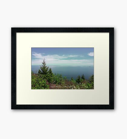 The Sound Of Blue Framed Print