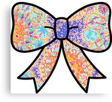 Lilly Pulitzer Inspired Bow Written in the Sun Canvas Print