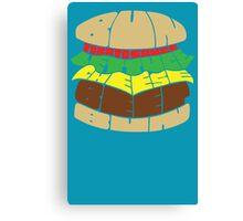 Burger Words Canvas Print