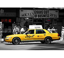 Yellow Cab - Times Square Photographic Print