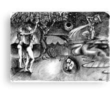 1986 Adam and Eve Christmas Card Canvas Print
