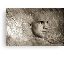 Face In The Wall Canvas Print