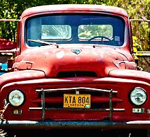 Old Red Farm Truck by Amy McDaniel