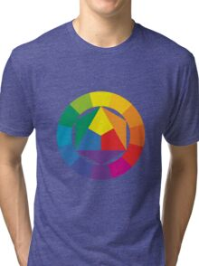 3D Colorful Abstract Shapes Tri-blend T-Shirt