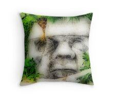 Face of Stone Throw Pillow