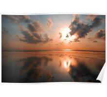 Reflecting Balinese sunrise Poster