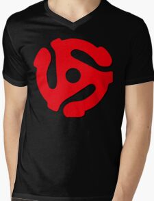 Music Geek, 45 rpm record adaptor, music geek stuff Mens V-Neck T-Shirt