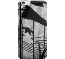San Xavier Gate Shadow with Cactus 2 BW iPhone Case/Skin