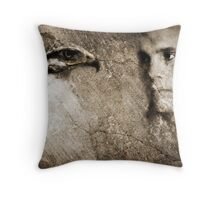Hunter In The Wall Throw Pillow