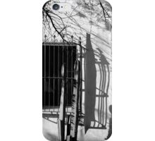 San Xavier Window and Shadows 1 BW iPhone Case/Skin